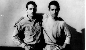 Jack Kerouac (on the right) with Neal Cassady